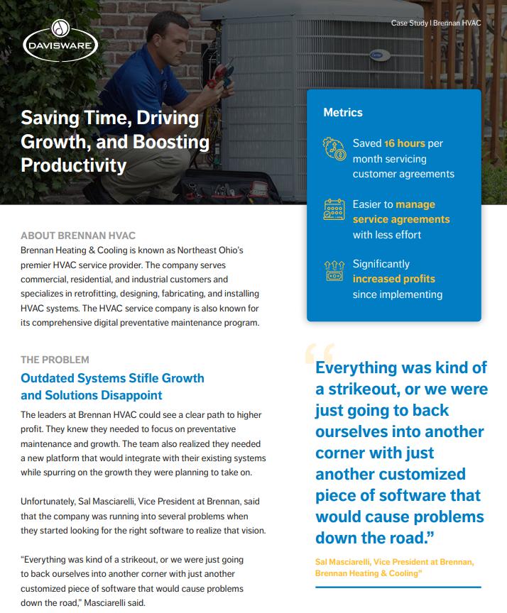 Vision HVAC Case Study Cover Screenshot
